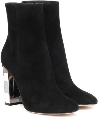 Gianvito Rossi Disco Heel 100 suede ankle boots