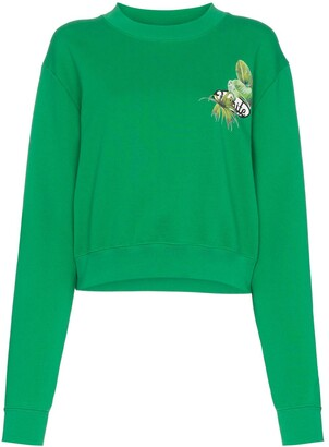 Off-White graphic print cropped sweater