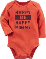 Carter's Long-Sleeve Orange Happy Slogan Bodysuit - Baby Boys newborn-24m