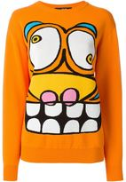 Jeremy Scott cartoon face sweater