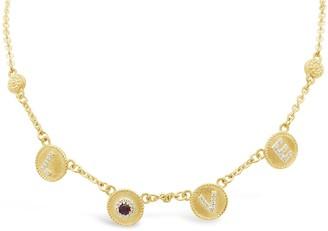 "Judith Ripka 14K Clad Diamonique & Gemstone ""Love"" Necklace"