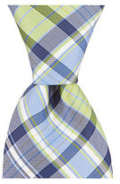 Roundtree & Yorke Trademark Jump Plaid Traditional Silk Tie
