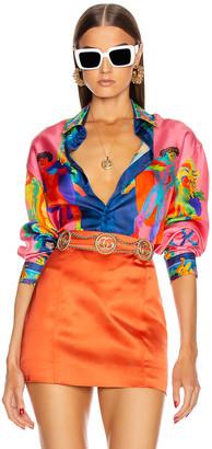 Versace Long Sleeve Print Shirt in Multi | FWRD
