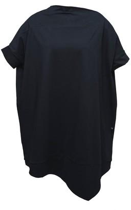 Non+ Non446 Black Asymmetric Tunic Dress