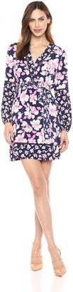 Eliza J Women's Faux Wrap Dress with Self Sash