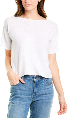 Eileen Fisher Petite Ribbed Linen Sweater