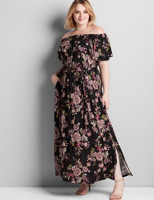 Lane Bryant Convertible Paisley Maxi Dress
