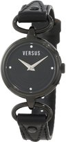 Versus By Versace Women's 3C67600000 Versus V IP Dial with Crystals Genuine Leather Watch
