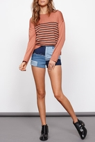 MinkPink Apricot Lines Top