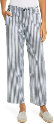Rag & Bone Buckley Stripe Ankle Straight Leg Pants