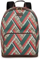 Gucci Gg Chevron-print Backpack