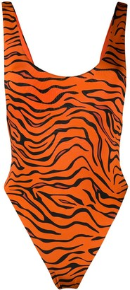 Reina Olga tiger print one-piece swimsuit