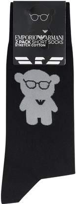Giorgio Armani Ea7 Manga Bear Sock (Pack of 2)