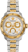 Versace 44mm Men's Dylos Two-Tone Chronograph Watch, Multi