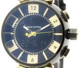 Louis Vuitton Tambour Q118N Stainless Steel / Pink Gold Quartz 44mm Mens Watch