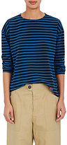 Kule Women's Striped Cotton Boyfriend T-Shirt