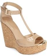 Jimmy Choo 'Pela' Cork Wedge Sandal (Women)