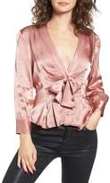 WAYF Errol Bow Blouse