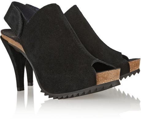 Pedro Garcia Nala suede and cork slingback sandals