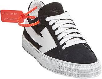 Off-White Arrow Mixed Leather Low-Top Sneakers