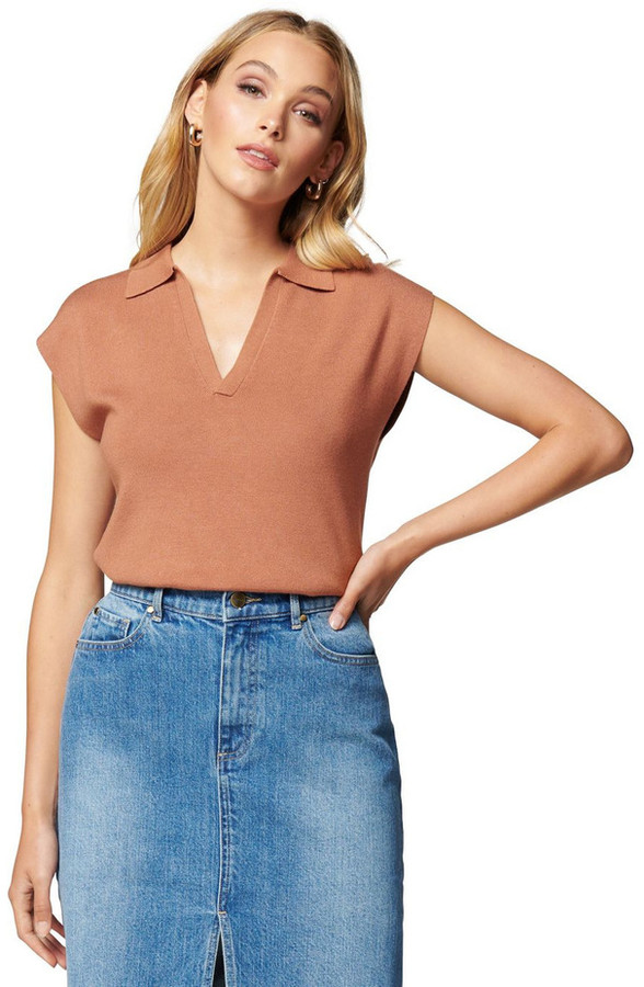 Thumbnail for your product : Forever New Marissa Sleeveless Polo Knit Top