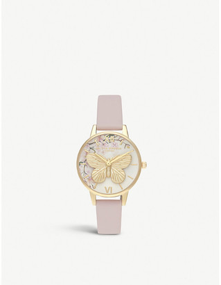 Olivia Burton OB16EG125 Pretty Blossom rose gold-plated stainless steel and vegan-friendly watch