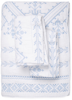 Melange Home Jackson Embroidered Cotton Shell Quilt Set