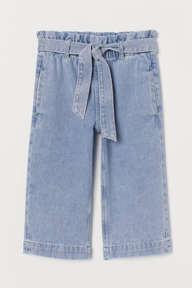 H&M Wide Cropped Jeans
