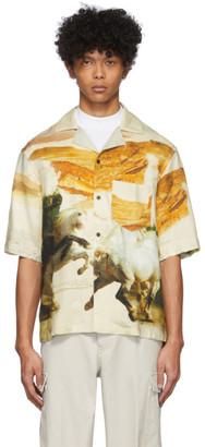 Acne Studios Off-White Horse Print Short Sleeve Shirt