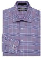 Saks Fifth Avenue BLACK Slim-Fit Plaid Cotton Dress Shirt