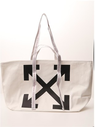 Off-White Arrows Printed Tote Bag