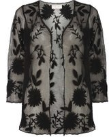 Dorothy Perkins Womens Black Embroidered Lace Cardigan- Black