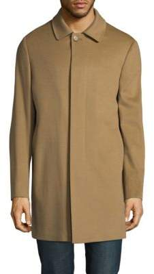 Saks Fifth Avenue Buttoned Wool Topcoat