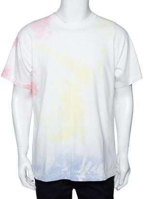 John Elliott White Cotton Ink Bloom University Tie Dye Crew Neck T Shirt M