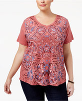 Style&Co. Style & Co Plus Size Printed T-Shirt, Created for Macy's