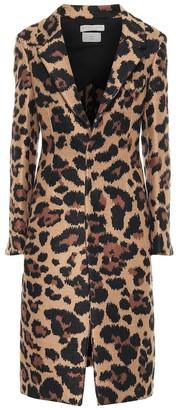 Bottega Veneta Leopard-jacquard coat