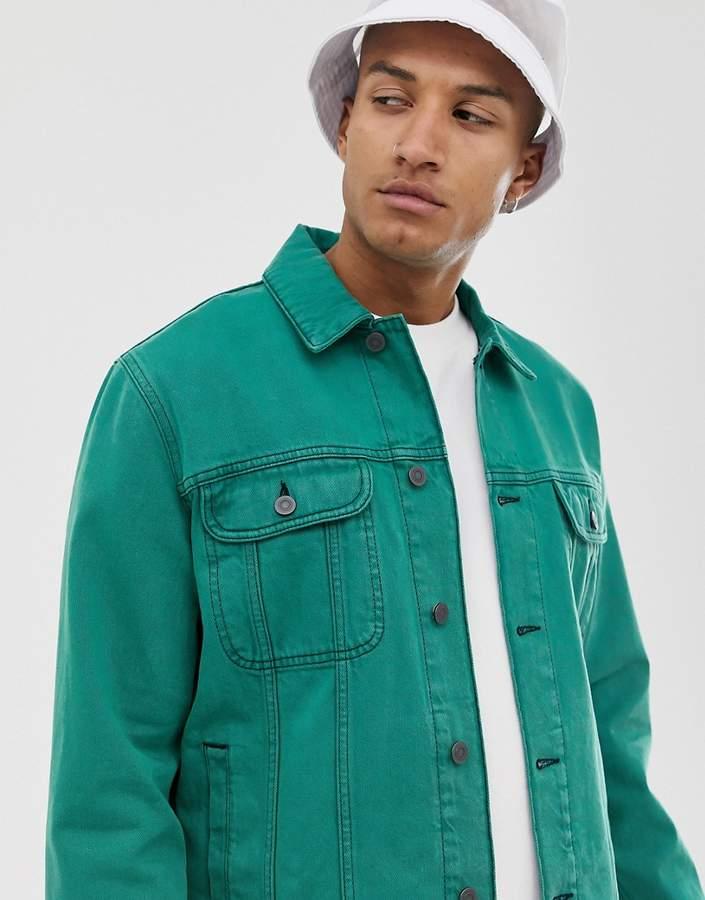 4aa409c36 Design DESIGN oversized western jacket in overdyed green