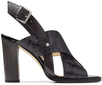 Jimmy Choo Crossover Buckle Sandals