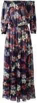 MSGM off-the-shoulder long dress - women - Silk/Cotton - 40