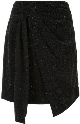 Dondup Glitter Detail Draped Skirt