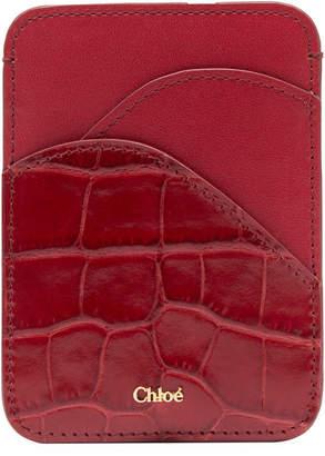 Chloé Walden Leather Card Case Holder