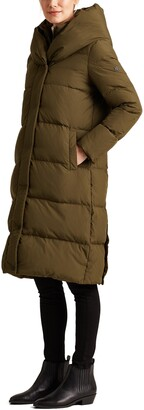 Lauren Ralph Lauren Pillow Collar Hooded Puffer Coat