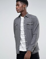 Selected Long Sleeve Denim Shirt