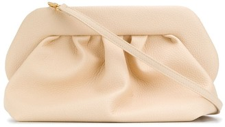 Themoire Ruched Detail Clutch Bag