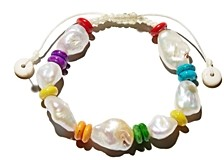 Aqua Bead & Freshwater Pearl Bracelet - 100% Exclusive