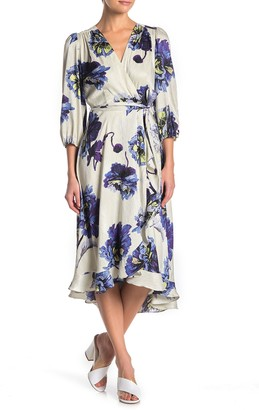 Gabby Skye 3/4 Sleeve Floral Print Dress
