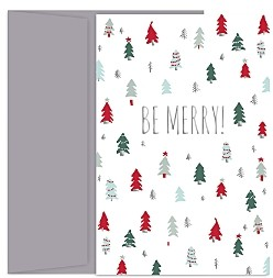 MASTERPIECE Be Merry Holiday Cards Set of 18