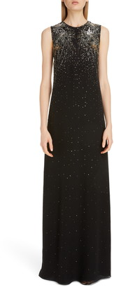 Givenchy Firework Embellished Sleeveless Silk Gown