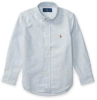 Ralph Lauren Kids Cotton Oxford Stripe Sport Shirt, Size 2-3