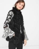 White House Black Market Faux-Fur Vest